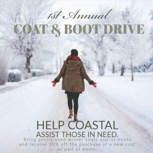 1st Annual Coat & Boot Drive at Coastal